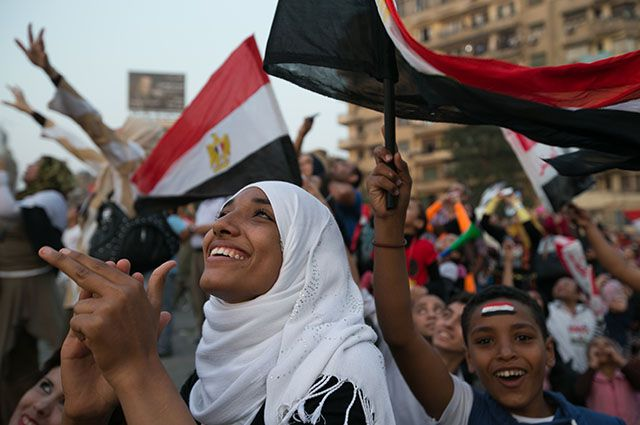 Акции протеста в Египте.
