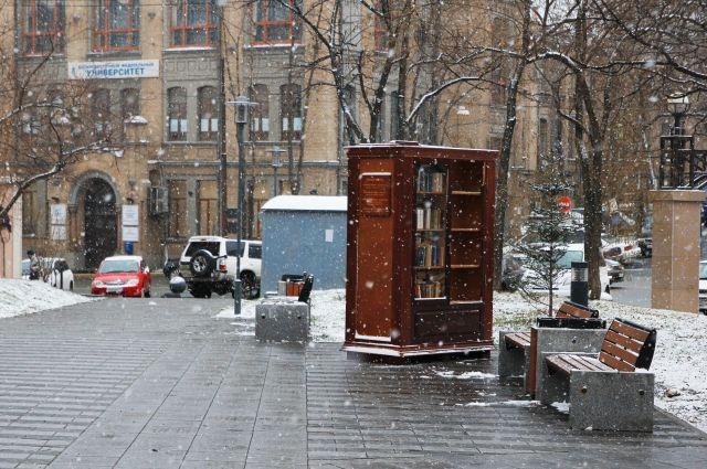 Книжный шкаф в парке им. Суханова