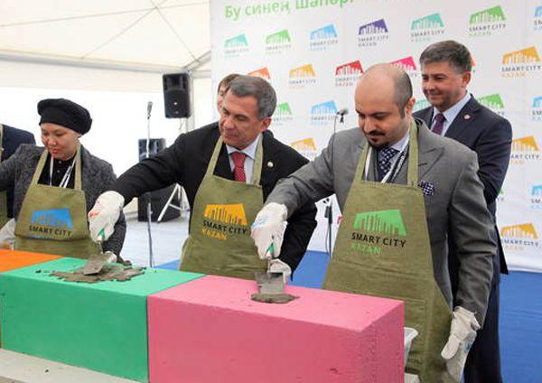 Церемония закладки первого камня строительства объектов «СМАРТ-Сити Казань».