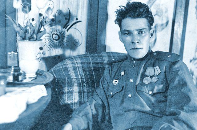 А. Кутуй во время болезни в госпитале г. Згеж. 1945 г.