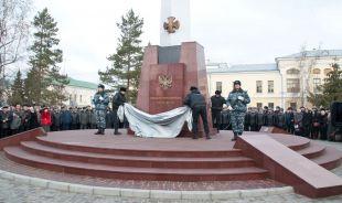 Торжественное открытие памятника сотрудникам МВД.