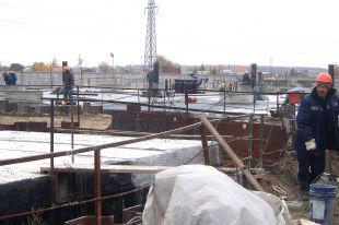 Ленинская очистная водопроводная станция в Омске.