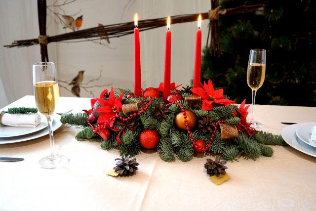 Новогоднее украшение на стол своими руками
