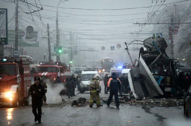 Взрыв троллейбуса в Волгограде