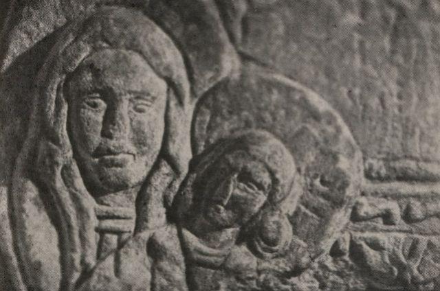 Рельеф Девы Марии из киевской ротонды XII века.