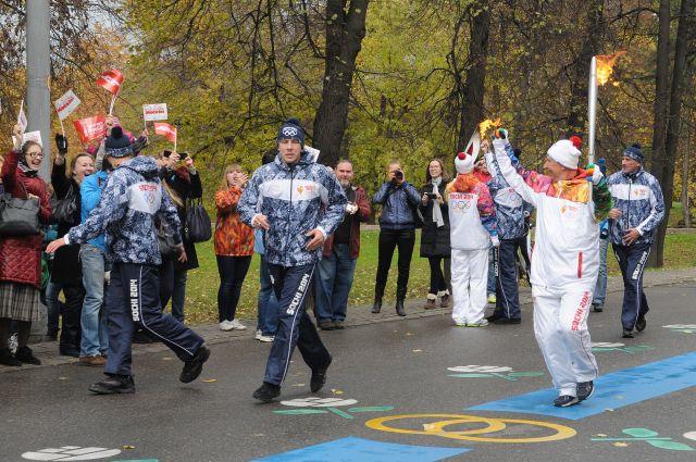 АиФ принял участие в эстафете олимпийского огня.