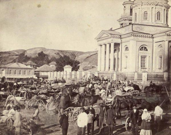 Базар в праздник в Цымлянской станице