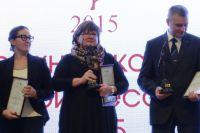 """Директор """"АиФ-Югра"""" Наталья Пинегина во время церемонии награждения."""
