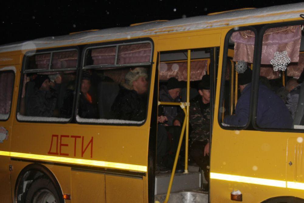 Автобус с пациентами психоневрологического диспансера.