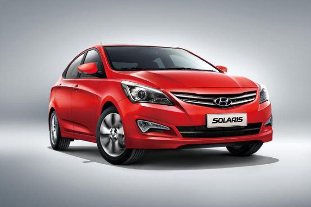 Третье место – Hyundai Solaris.
