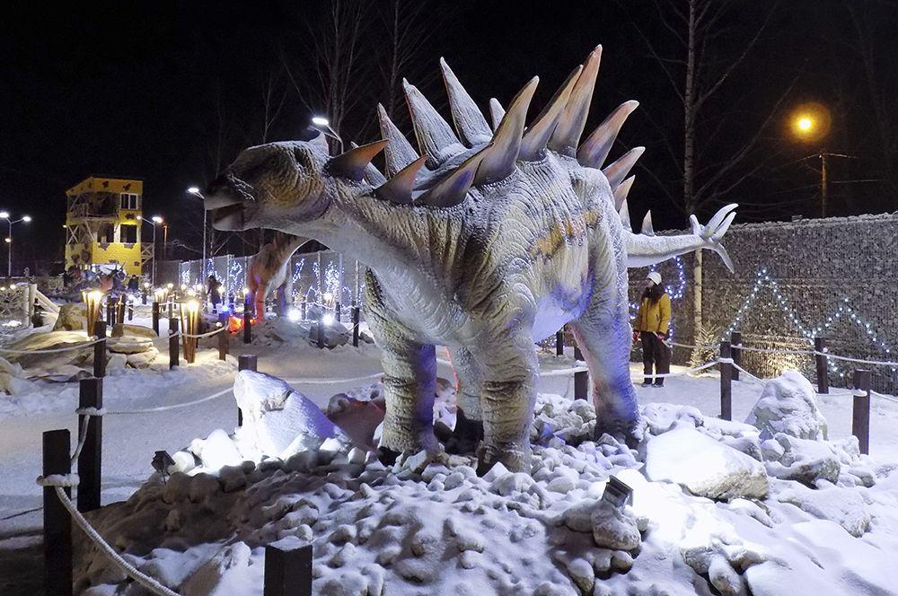Несмотря на грозный вид, этот динозавр питался травой.