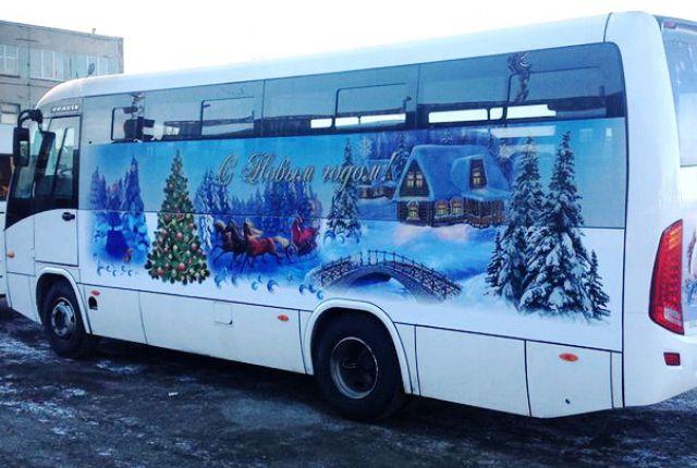 Картинки по запросу новогодние автобусы