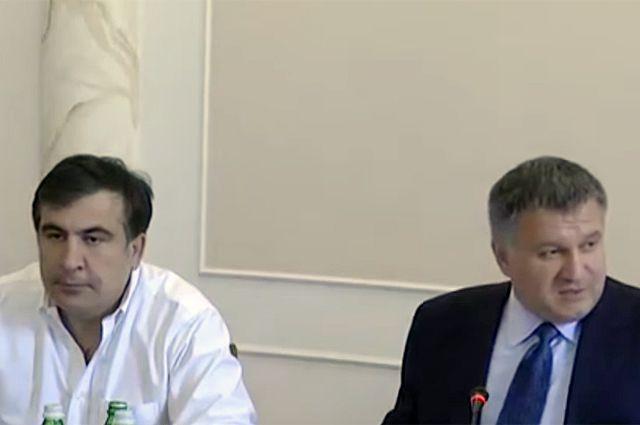 Михаил Саакашвили и Арсен Аваков.