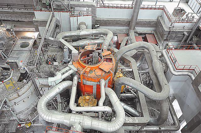 Так реактор выглядел ещё недавно - когда шёл монтаж.