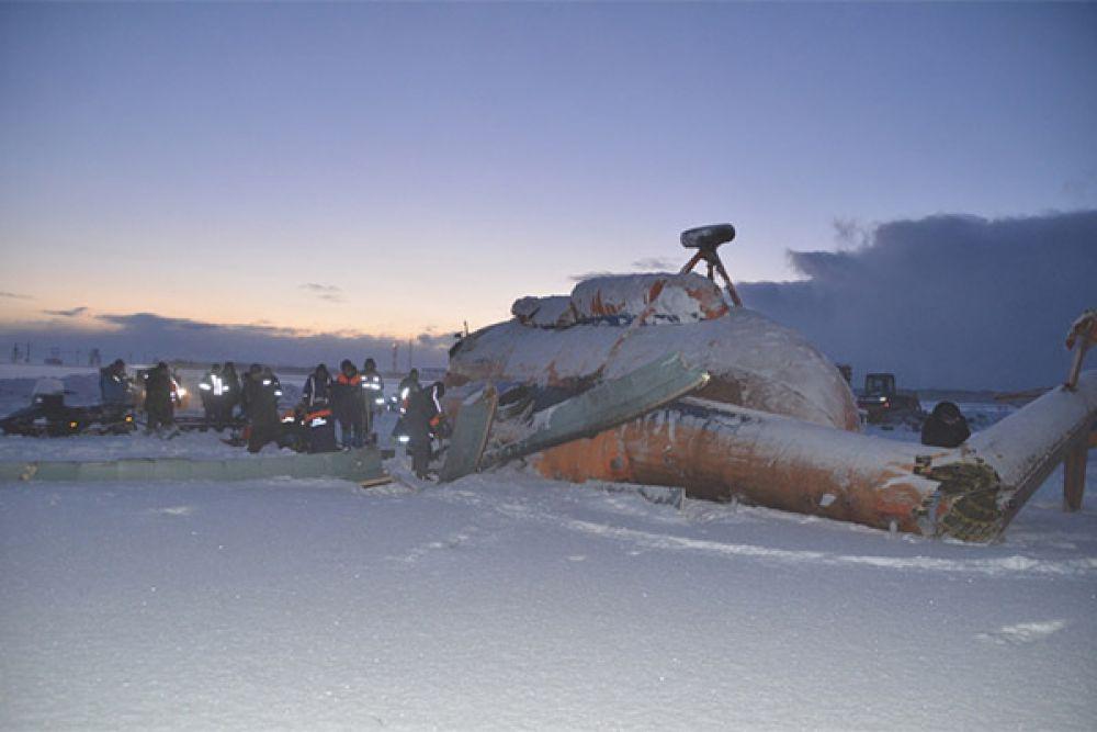 Вертолёт МИ-8 упал 16 декабря в 14:10.