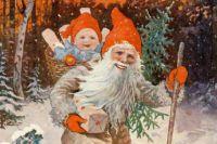 Обложка шведского иллюстрированного рождественского журнала 1904 года