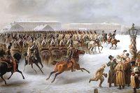 Утро на Сенатской площади 14 декабря 1825 г. Картина Василия Тимма (1853 г.)