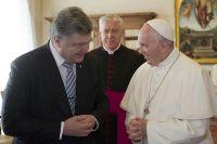 Пётр Порошенко и Папа Римский Франциск.