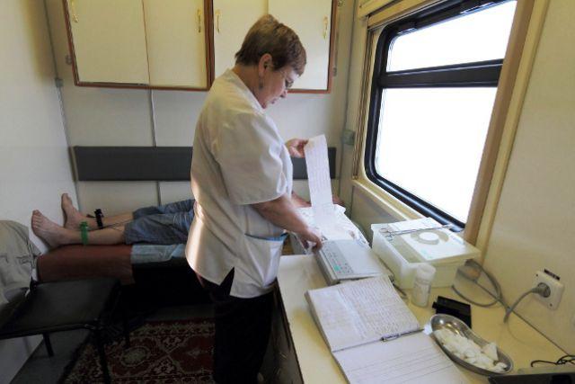 Врачи поезда «Терапевт Матвей Мудров» будут принимать пациентов до 22 декабря.
