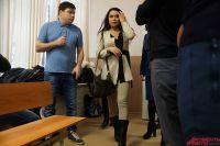Анна Ефимова в зале суда.