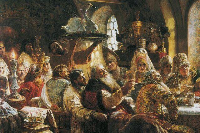 К. Е. Маковский «Боярский пир». 1883 г.