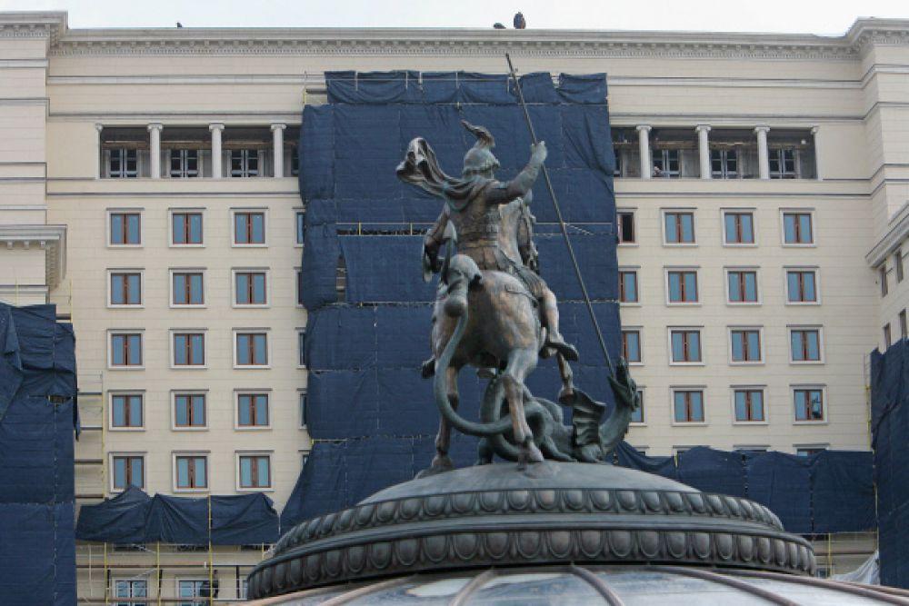 Гостиница «Москва» открывается после реконструкции. Манежная площадь, 2008 год.