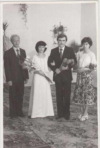 Свадьба казанцев Калининых, 70-е.