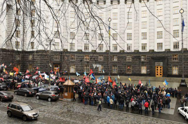 «Ходоки» изКривого Рога прибыли встолицу страны Украина требовать новых в ...