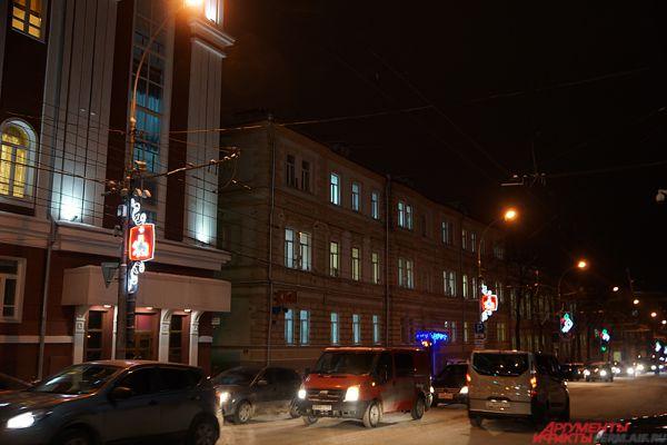 Кронштейны в виде герба Пермского края.
