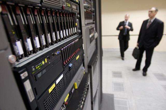 Центр обработки данных (ЦОД) в здании компании «Ростелеком» в Санкт-Петербурге.