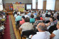 Перед слушателями выступает министр финансов Ульяновской области Екатерина Буцкая.