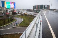 Развязка пересечения Можайского шоссе и МКАД.