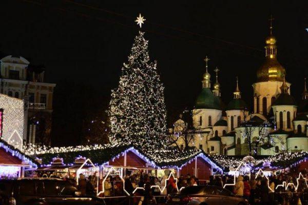 Главная елка страны на Софиевской площади