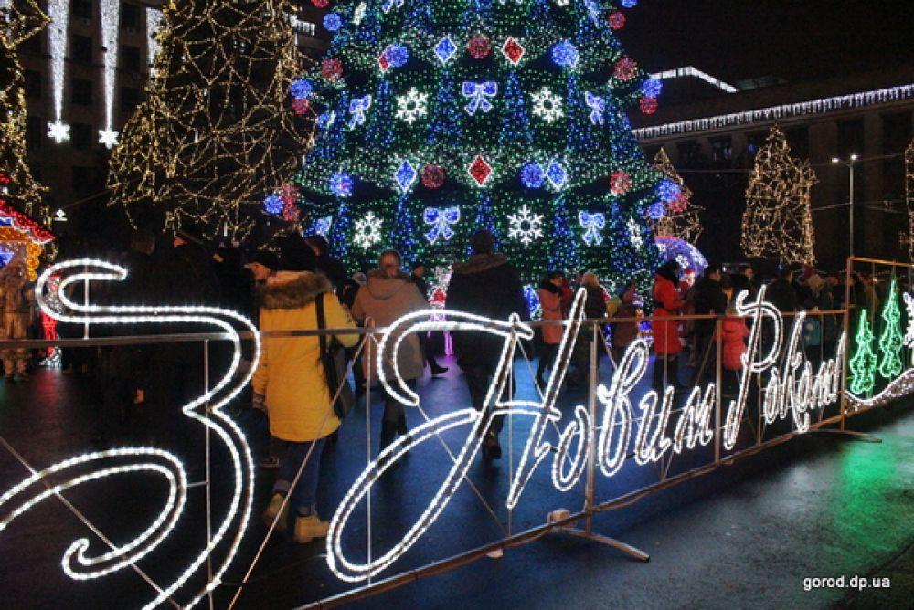 Новогодняя елка в Днепропетровске