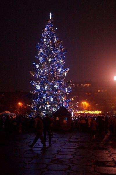 Главным событием Запорожья стала губернаторская елка -  впервые за 24 года на главной площади облцентра установили живую ель.