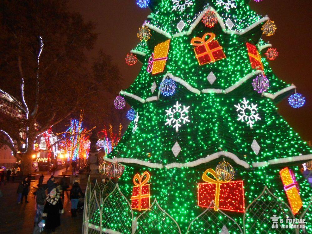 Новогодняя елка в Одессе