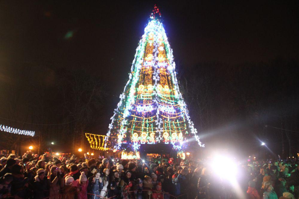 Отрытие главной елки в Виннице