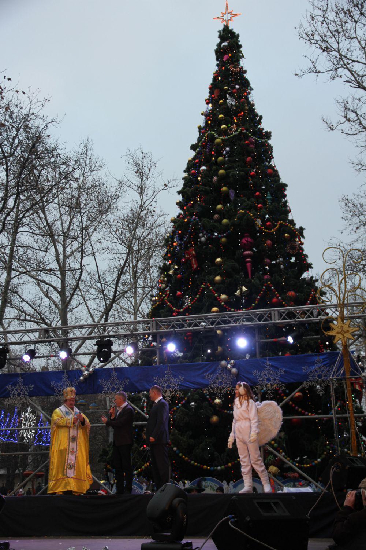 Открытие новогодней елки в Николаеве