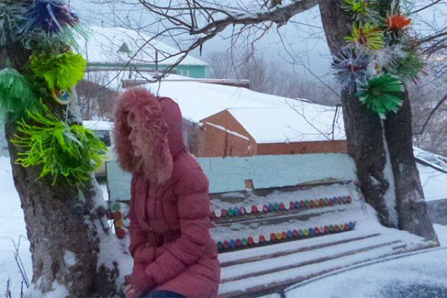 Декабрь на улице Командорской.