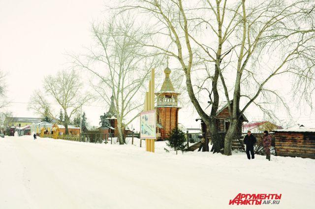 В районе зимой - настоящая снежная сказка.