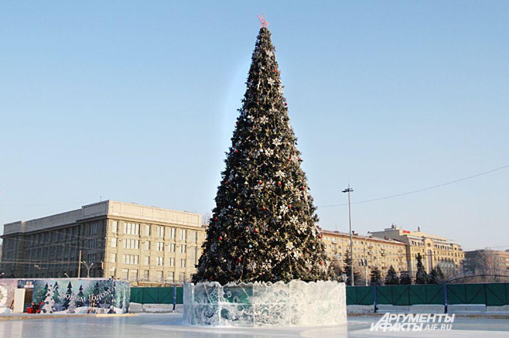 Главная ёлка Новосибирска.