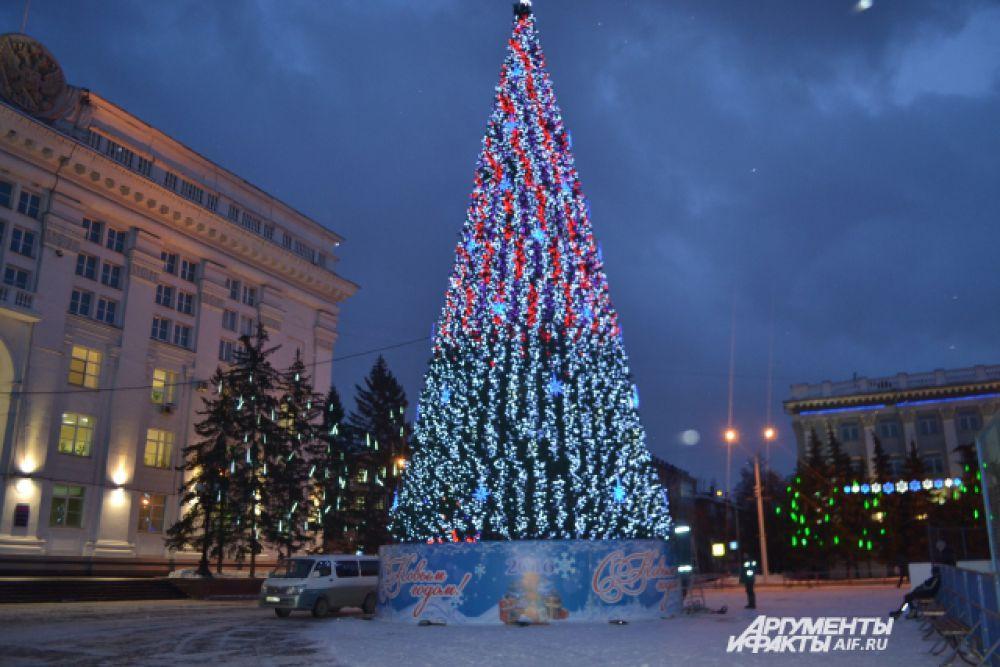 Главная ёлка Кузбасса в Кемерове.