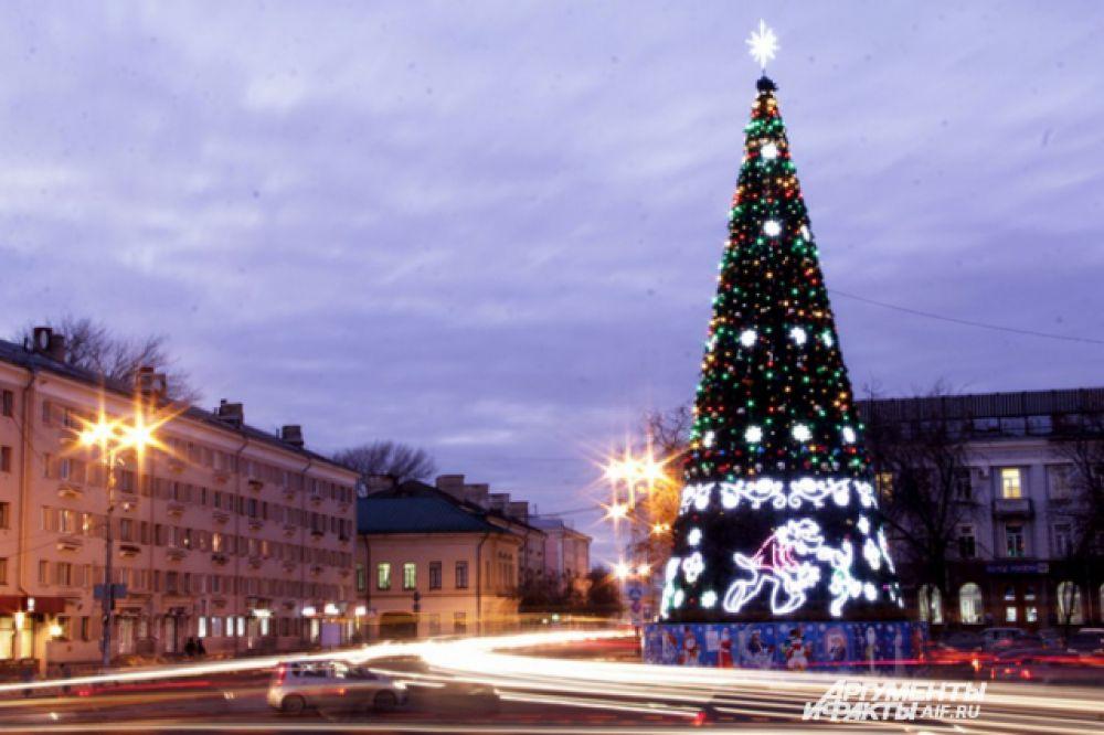 Ёлка в Пскове.