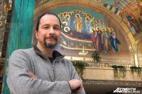 Андрей Курков получил благословение на роспись главного собора Калининграда у Патриарха Кирилла.