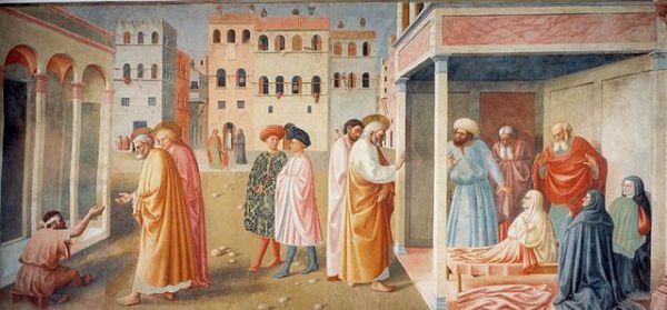 Название картины Томмазо Мазаччо «Святой Пётр исцеляет калек» звучит нетолерантно. По сегодняшним меркам итальянскому художнику стоило бы назвать своё полотно «Святой Пётр исцеляет людей с ограниченными возможностями».