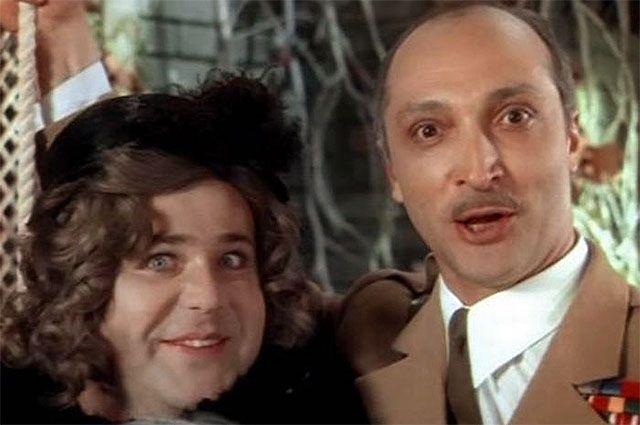 Александр Калягин и Михаил Козаков в фильме «Здравствуйте, я ваша тетя!», 1975 год.
