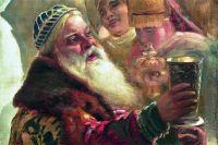 Фрагмент картины Константина Маковского «Боярский свадебный пир», 1883 год.