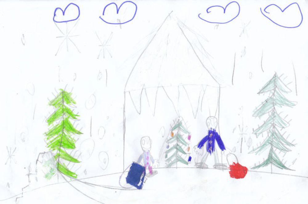 Участник №81. Аксаментов Игорь: Детвора, выглянув с утра в окно, Увидала, что пришла зимушка зима, С горки снова можно прокатиться, Поиграть в снежки, повеселиться Все довольны ребятишки Ведь скоро праздник - Новый год.