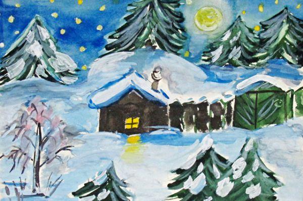 Участник №57. Казьмина Вероника, «Зимой все деревья в серебре»