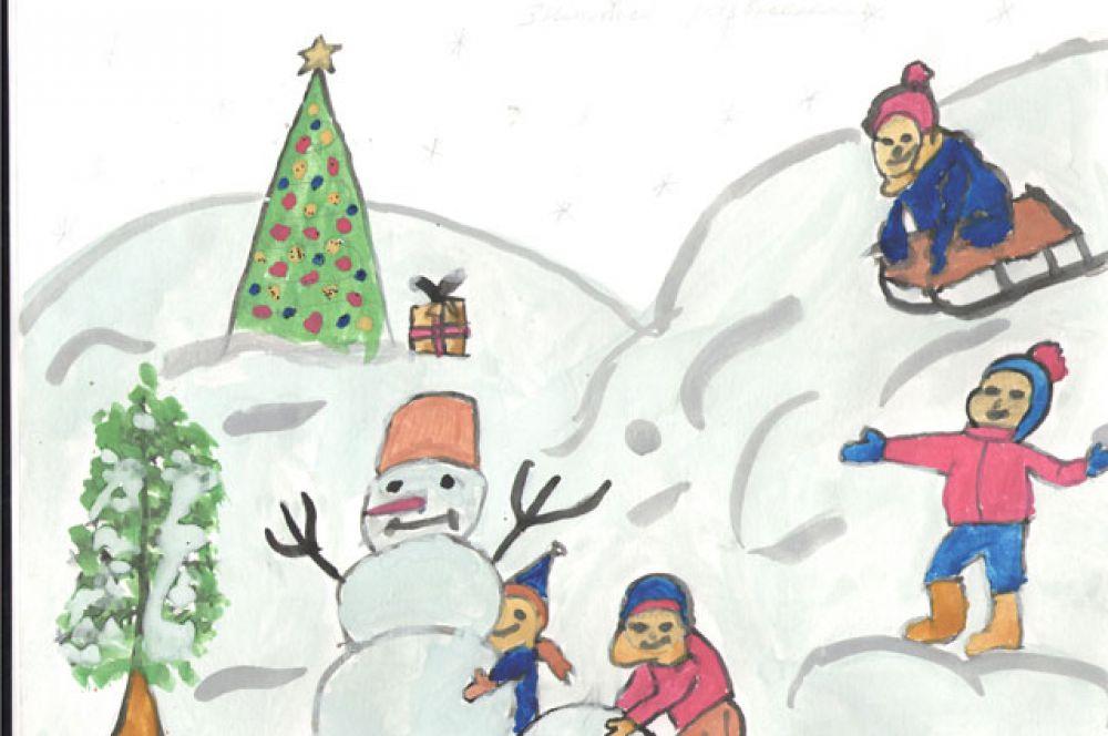 Участник №111. Орлова Вика: Зимняя стужа нам не помеха, Для наших игр и смеха. Веселимся мы всегда, С горок катимся. Ура!
